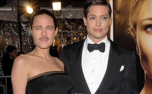 Brad Pitt et Angelina Jolie Face Inversion