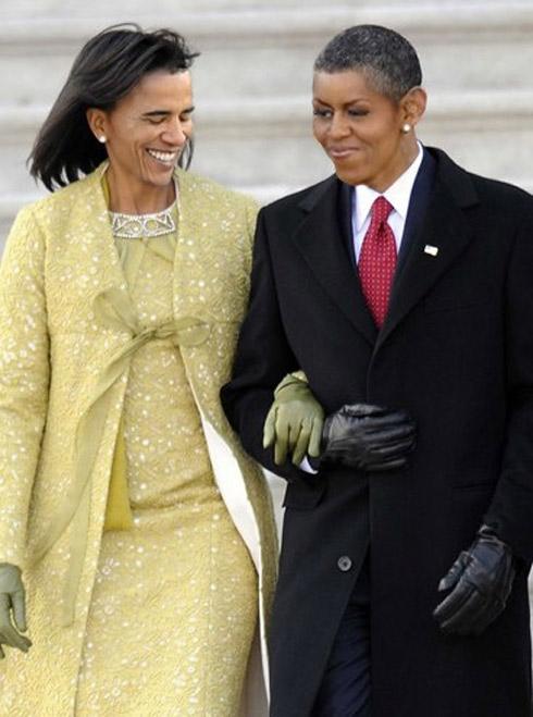 Le couple Obama Droles de tetes